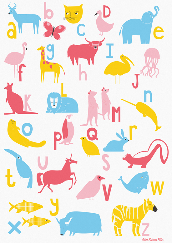 alice-potter_Animal A-Z Poster_Alice Potter