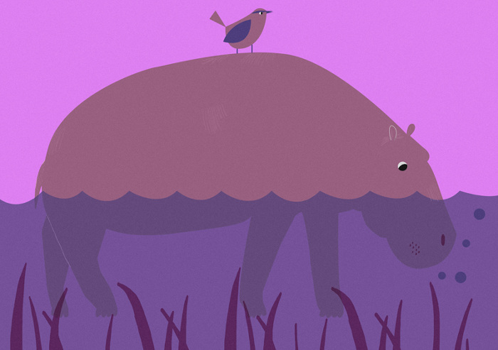 alice-potter_Hippo and Bird_Alice Potter_700