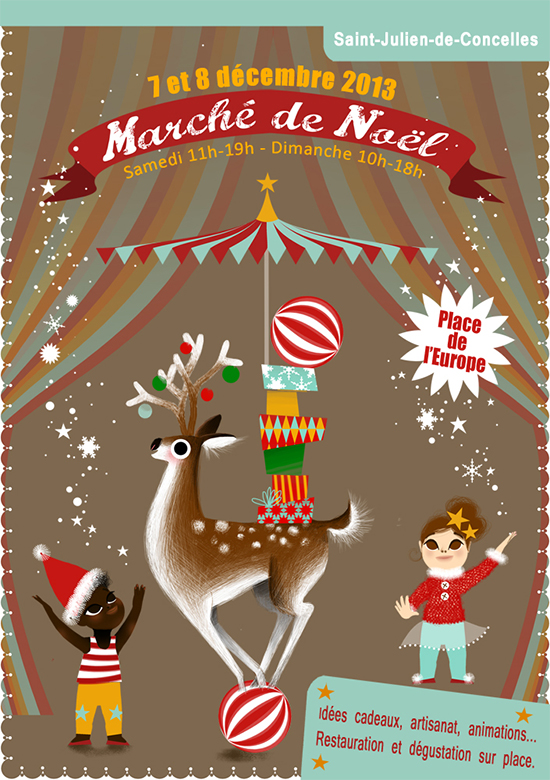marie-rose-boisson_Programme A5 march de noel st julien copie-illustration Marie-Rose Boisson