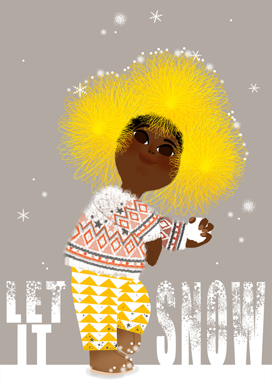 marie-rose-boisson_let it snow-illustration Marie-Rose Boisson