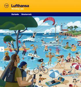 Lufthansa Online Campaign
